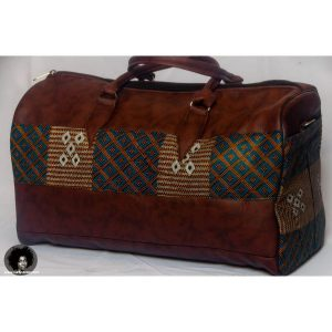 African PU Leather Travel Bag ? Brown
