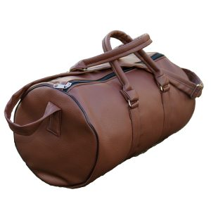 African PU Leather Duffle Travel Bag ? Brown