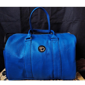 Blue Gym Bag With A Shoe and Water Compartment